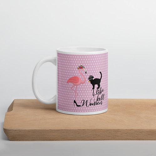 Taza rosa 'Cat in love'
