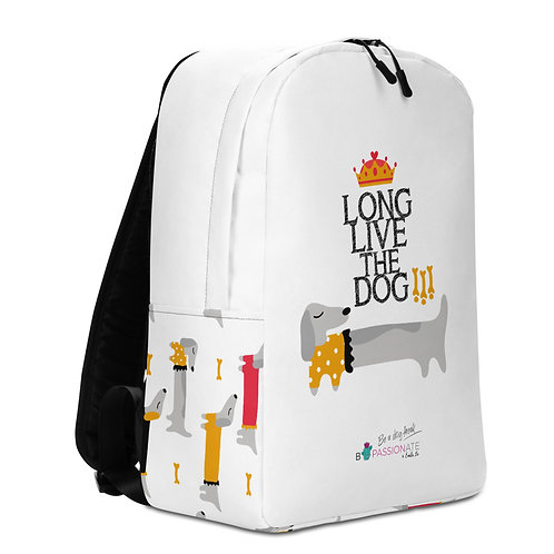 Mochila grande blanca perros 'Long Live the Dog!'