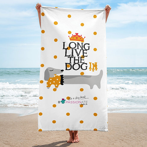 Toalla 'Long live the dog' modelo 2