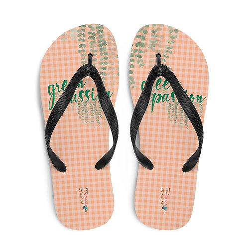 Chanclas salmón 'Green Passion'