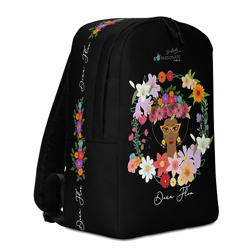 Large black 'Doña Flor' backpack