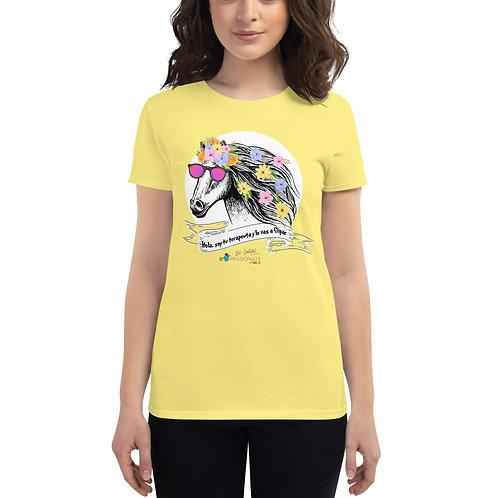 Women's 'Therapist horse' T-shirt