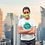 Thumbnail: Yellow reusable 'Planet lover' mask