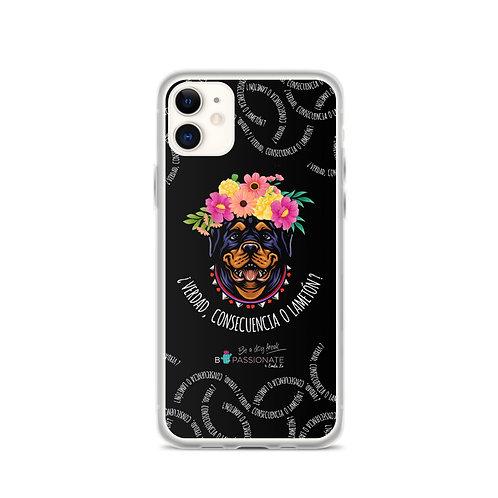 Black 'Loving dog' iPhone cases