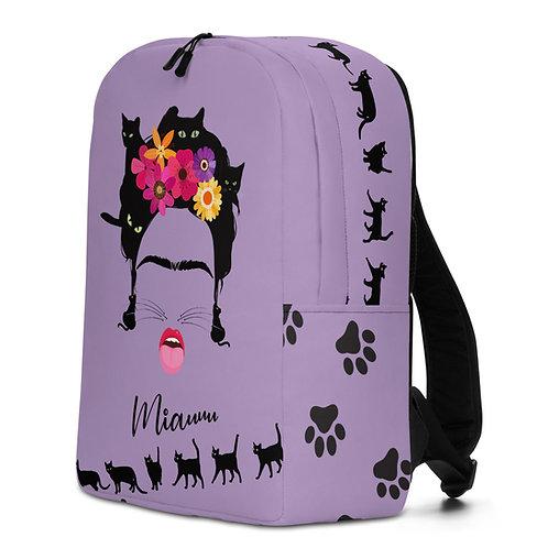 Large purple 'B Felina' backpack
