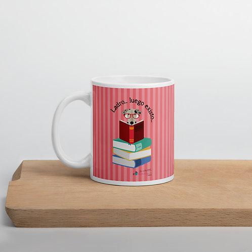 Taza rosa 'El perro inteligente