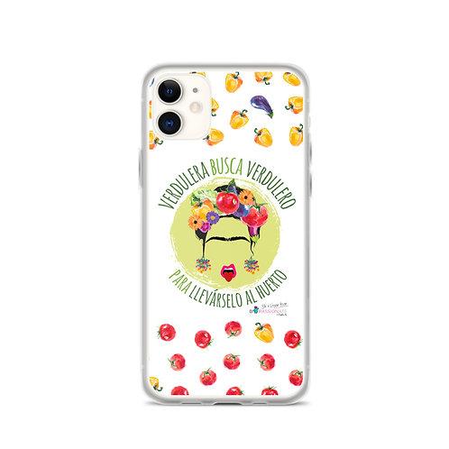 Fundas para iPhone blancas 'Veggie lover'