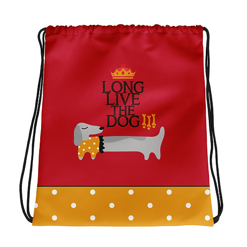 Basic red 'Long live the dog' backpack