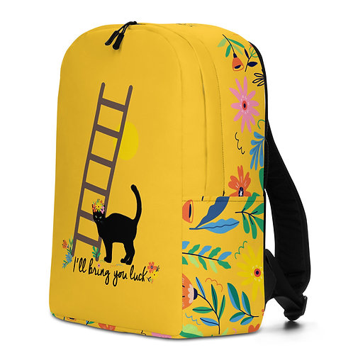 Large yellow 'Lucky Cat' backpack