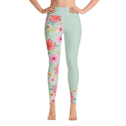Yoga leggings 'Green Passion'