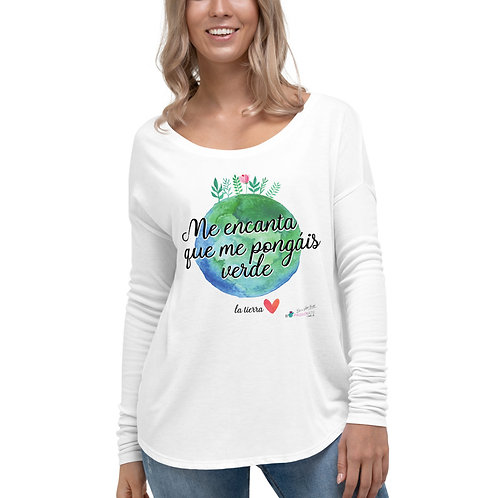 Camiseta flowy manga larga 'Planet lover