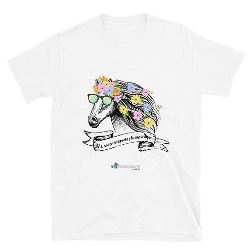 Camiseta básica 'Caballo terapeuta'