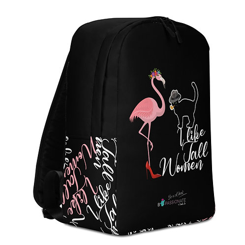 Large black 'Cat in Love' backpack