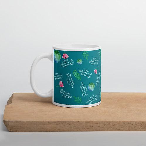 Taza verde 'Planet lover'