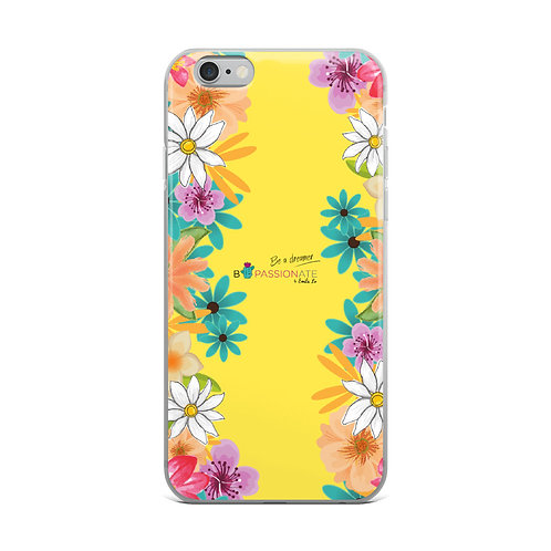 Yellow 'I want to dream' iPhone cases