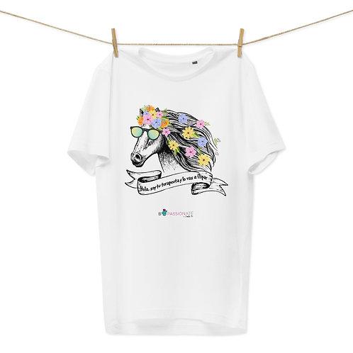 Camiseta algodón orgánico 'Caballo terapeuta'