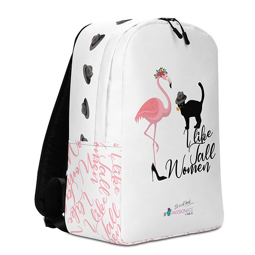 Mochila grande blanca 'Cat in Love'