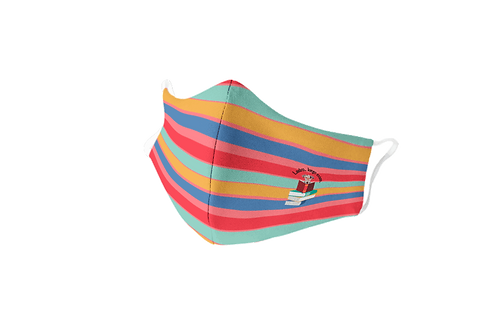 Reusable with colored stripes 'The smart dog' mask