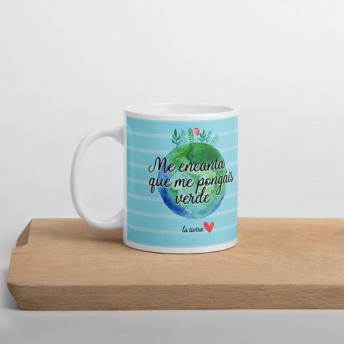 Blue 'Planet lover' mug