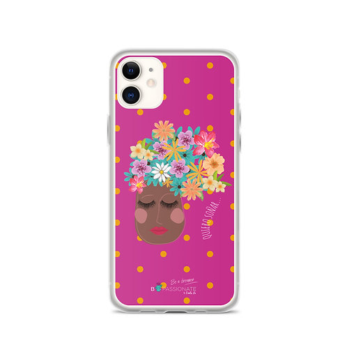 Fuchsia 'I want to dream' iPhone cases