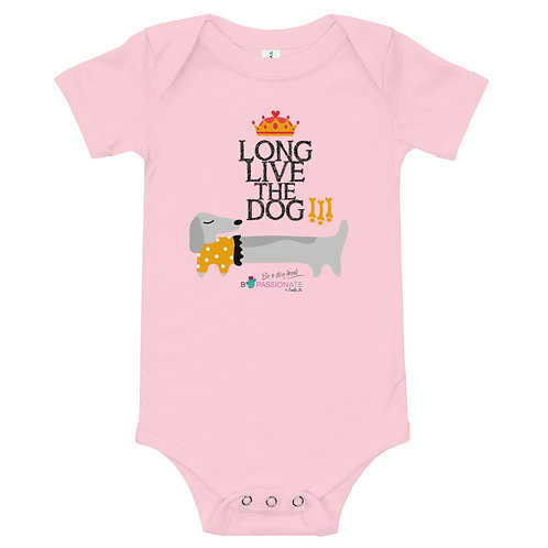Baby bodysuit 'Long live the dog'
