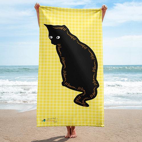 Toalla amarilla 'Lucky cat 3'