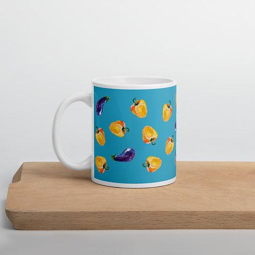 Taza azul 'Veggie lover'