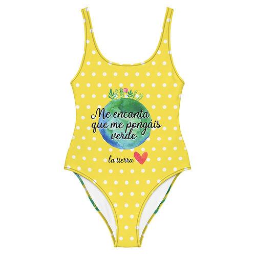 Bañador amarillo 'Planet lover'