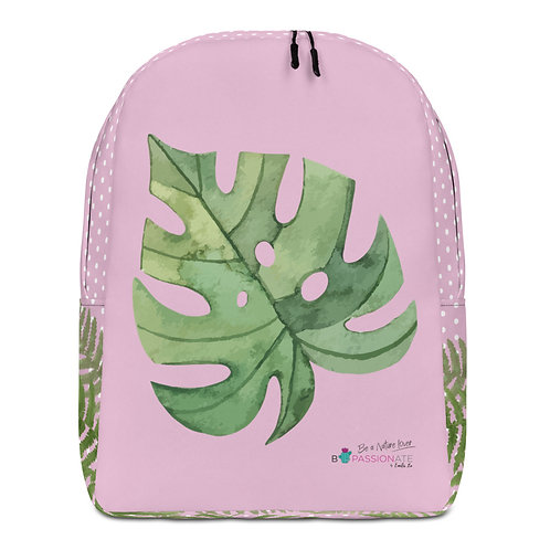 Large pink 'Green Passion' backpack