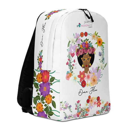Large white 'Doña Flor' backpack