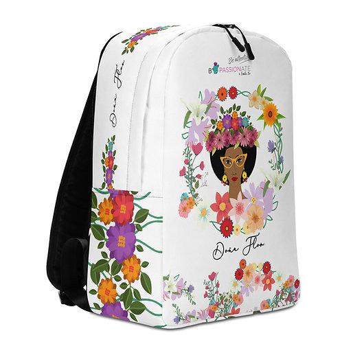 Mochila grande blanca 'Doña Flor'