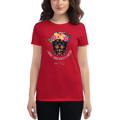 Camiseta mujer 'Perro amoroso'
