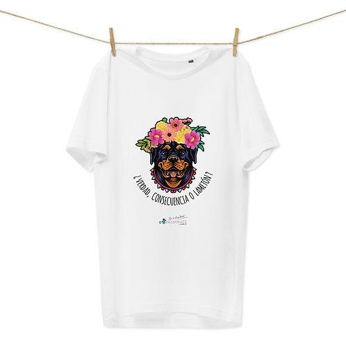 Camiseta algodón orgánico 'Perro amoroso'