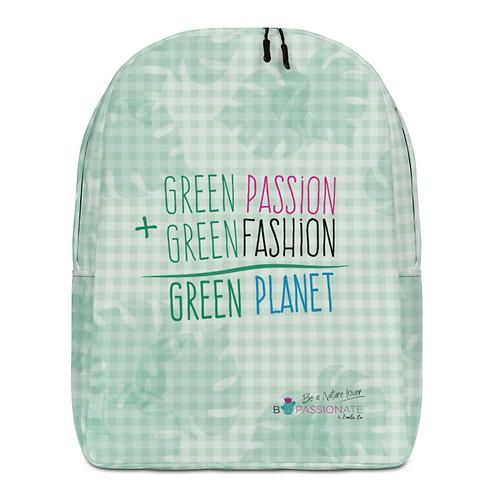 Mochila grande verde 'Passion+Fashion'