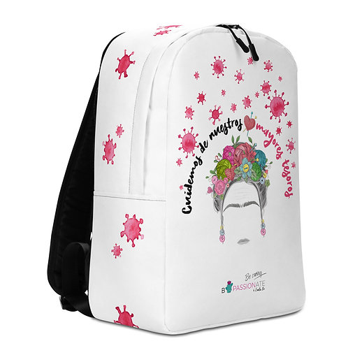 Large white 'Greater Treasures' backpack