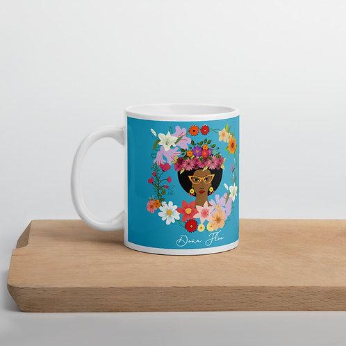 Taza azul 'Doña Flor'