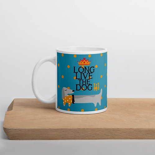 Taza verde 'Long live the dog'