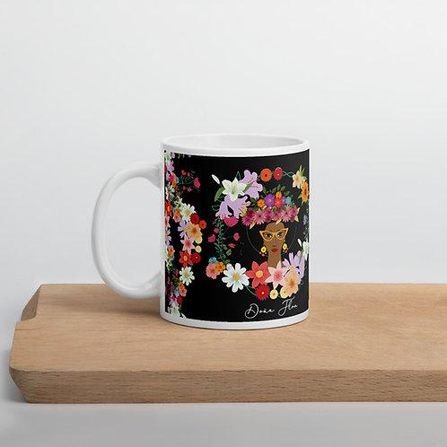 Taza negra 'Doña Flor'