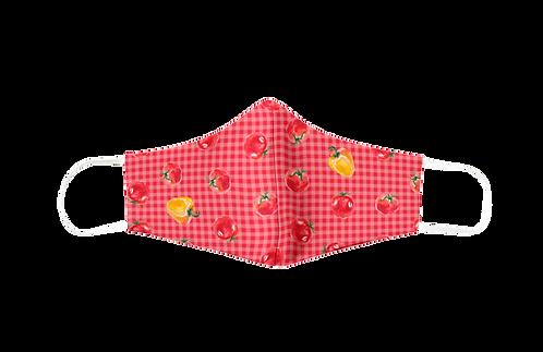 Mascarilla reutilizable roja 'Veggie lover'