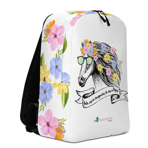 Large white 'Therapist horse' backpack