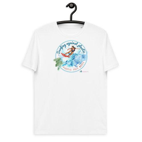 Organic cotton T-shirt 'Plastic-free waves'