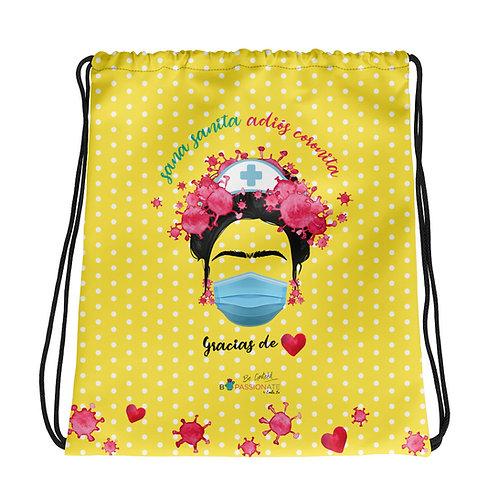 Yellow basic 'Goodbye Corona' backpack