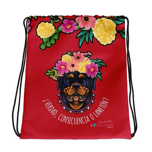Basic red 'Loving dog' backpack
