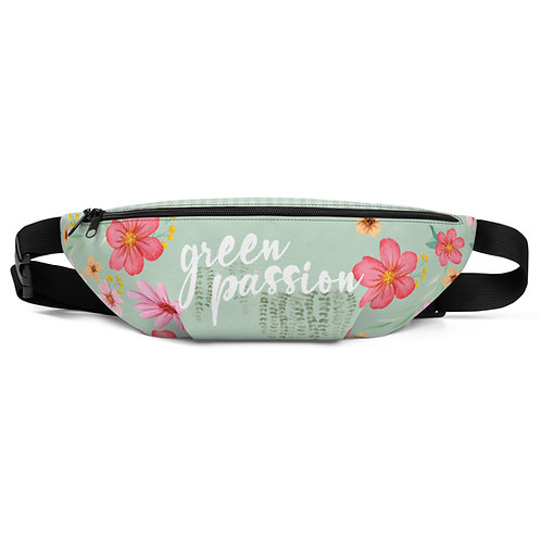 Green flower 'Green Passion' belt bag