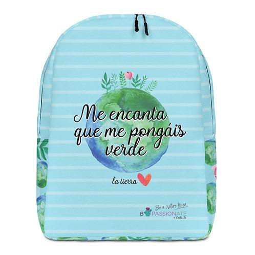 Large blue 'Planet lover' backpack