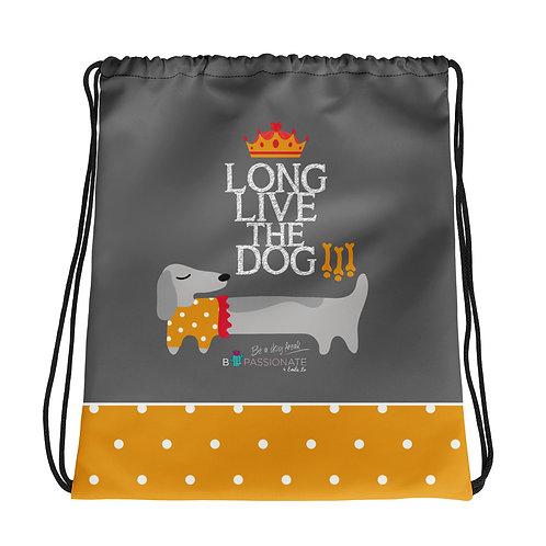 Gray basic 'Long live the dog' backpack
