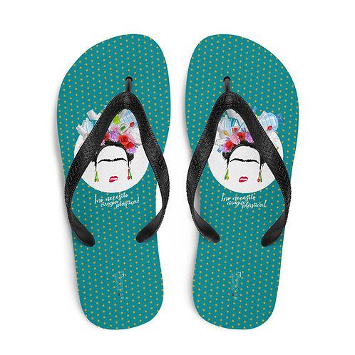 Green 'Plastic Surgery' flip-flops