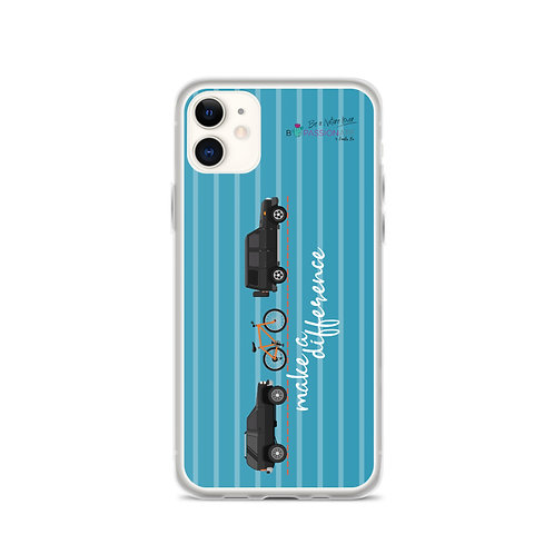 Fundas para iPhone azules 'Make a difference'
