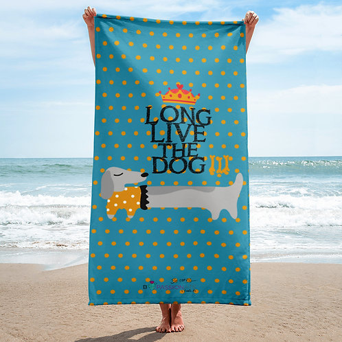 Toalla verde 'Long Live the Dog'