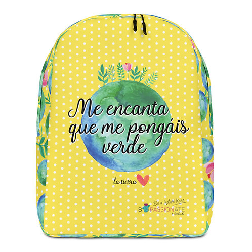 Large yellow 'Planet lover' backpack
